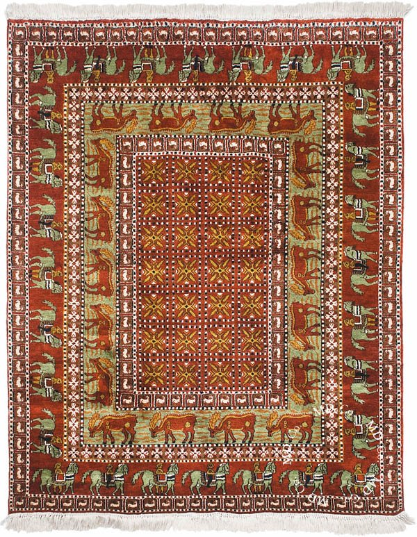 Indian Kashmir 4x5 Rug